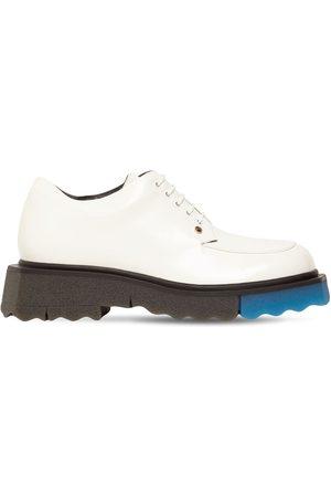 OFF-WHITE | Mujer Zapatos De Piel Cepillada Con Cordones 40mm 35