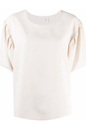 See by Chloé Camiseta con cuello redondo y manga farol