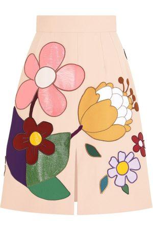 Dolce & Gabbana Falda con parche floral