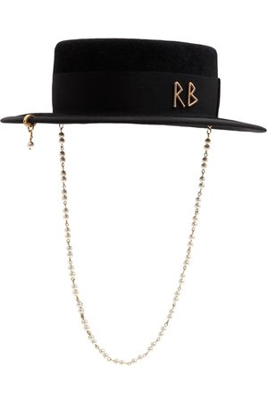 Ruslan Baginskiy | Mujer Sombrero De Fieltro Con Perlas Xs