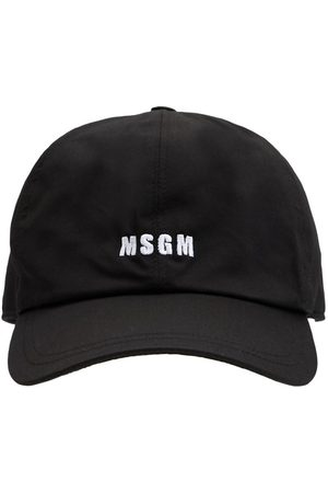 Msgm | Hombre Gorra De Lona De Algodón Con Logo Bordado Unique