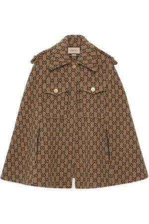 Gucci Mujer Abrigos largos - Capa de lana con GG