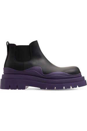 Bottega Veneta | Hombre Botas Chelsea Bv Tire De Piel /púrpura 39