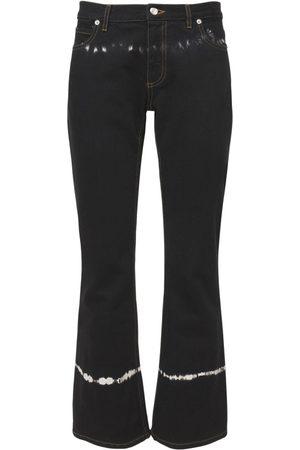 Marni | Mujer Pantalones Acampanados De Denim De Algodón Tie Dye 38