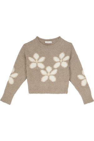 MONNALISA Jersey de lamé floral