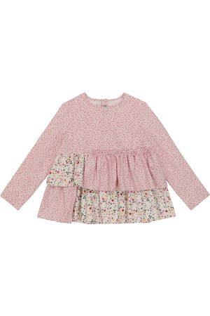Il gufo Blusa de algodón floral
