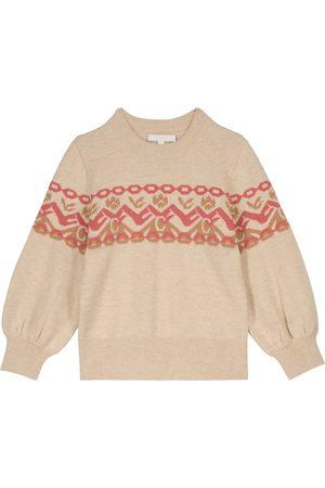 Chloé Jersey de intarsia en lana y algodón