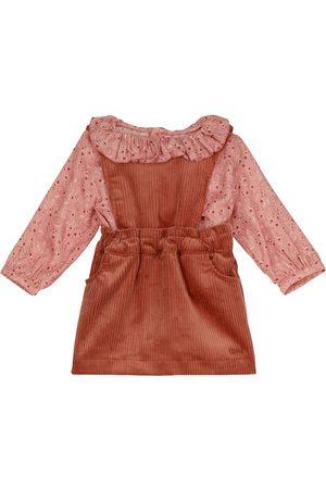 Chloé Bebé – Set de blusa paisley y vestido de pana