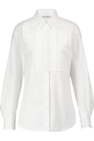 Paco rabanne Blusa de popelín de algodón