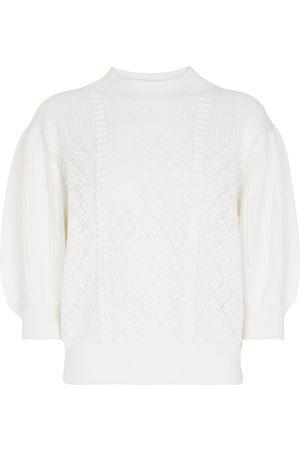 See by Chloé Jersey de lana pointelle y algodón