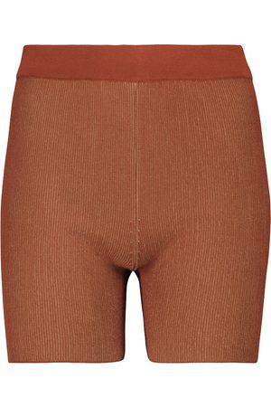 Jacquemus Shorts Le Short Arancia de punto