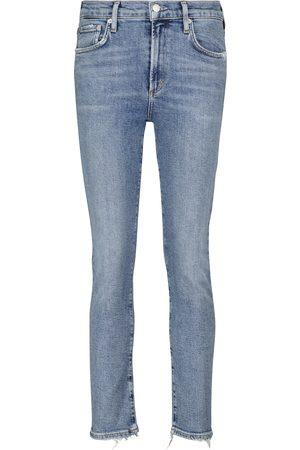 AGOLDE Jeans rectos de tiro medio