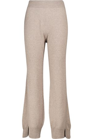 Barrie Pantalones anchos de cachemir tiro alto
