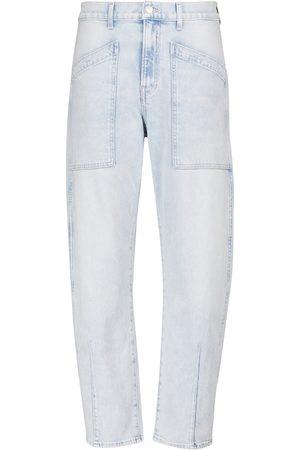 VERONICA BEARD Jeans cropped Charlie de tiro alto
