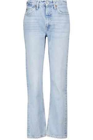 RE/DONE Jeans 70s Stove Pipe de tiro alto