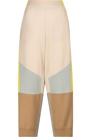 Stella McCartney Pantalones lana punto bloques de color
