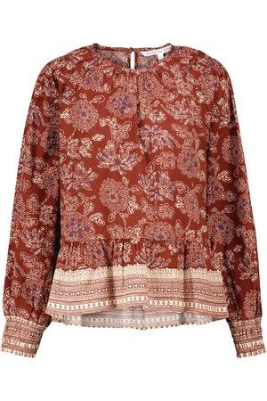 VERONICA BEARD Blusa Kester de algodón elástico floral