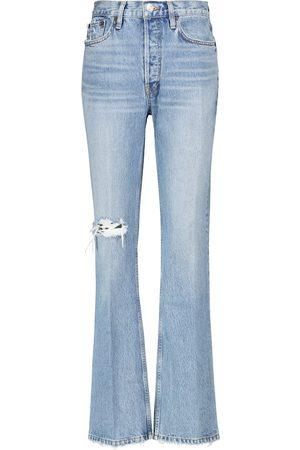 RE/DONE Jeans acampanados de tiro alto