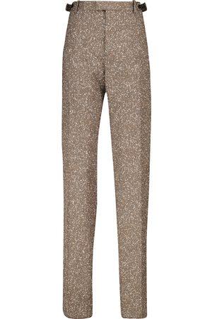 Bottega Veneta Pantalones de punto acanalado
