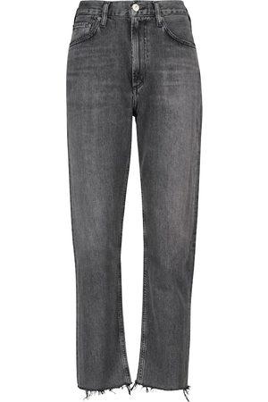 Citizens of Humanity Jeans slim Daphne de tiro alto de largo cropped