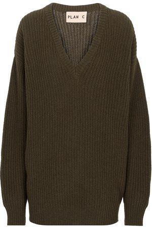 Plan C Jersey cachemir y lana con cuello en V