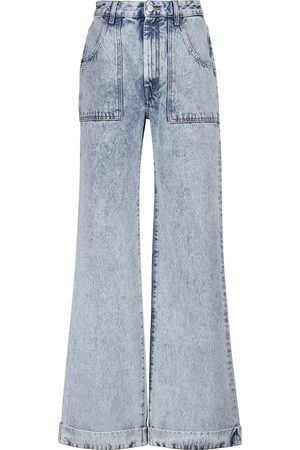 Alessandra Rich Jeans anchos de tiro alto