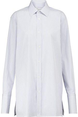 Maison Margiela Mujer Manga larga - Camisa de popelín de algodón a rayas