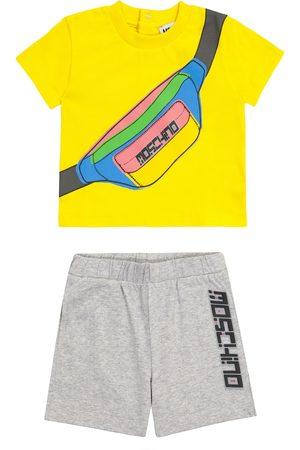 Moschino Bebé – conjunto camiseta shorts algodón print