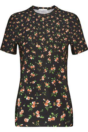 Paco rabanne Camiseta de punto elástico floral