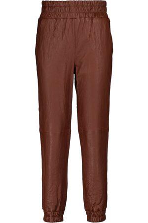 VERONICA BEARD Pantalones Wasia de piel de tiro medio