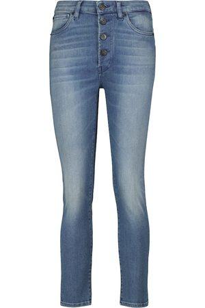 3x1 Jeans cropped skinny Poppy de tiro medio