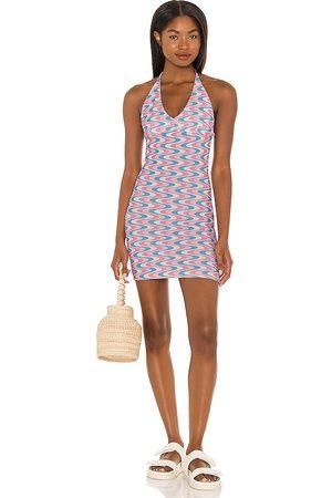 Frankies Bikinis Vestido de algodón dev en color pink,baby blue talla L en - Pink,Baby Blue. Talla L (también en M