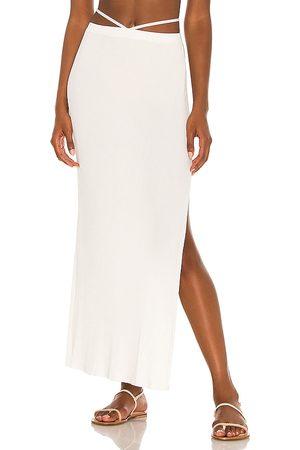 DEVON WINDSOR Falda midi sage en color blanco talla L en - White. Talla L (también en M, S, XL, XS).