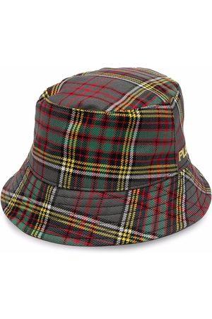 Serafini Sombrero de pescador a cuadros tartán