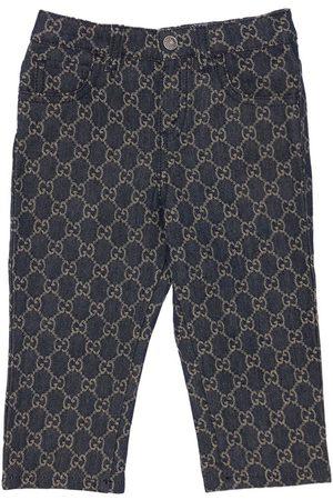 GUCCI | Niña Jeans De Denim De Algodón Orgánico Con Gg Jacquard 18-24m