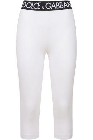 Dolce & Gabbana Mujer Pantalones y Leggings -   Mujer Leggings De Punto De Algodón Y Tech 36