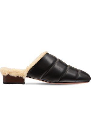 MANU | Mujer Zapatos Mules De Piel Acolchada 25mm 41