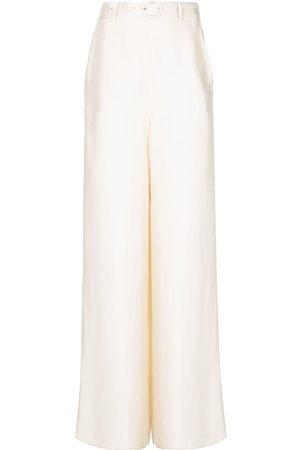 LAPOINTE Mujer Pantalones anchos y harén - Pantalones palazzo con cinturón