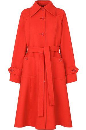 Dolce & Gabbana Mujer Abrigos largos - Gabardina acampanada con cinturón