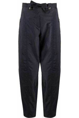 Kenzo Pantalones cargo con cintura con lazo