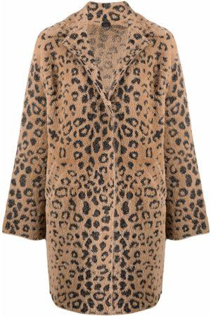 Pinko Abrigo con botones y motivo de leopardo