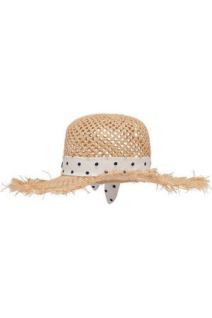 Miu Miu Sombrero de rafia con motivo de lunares