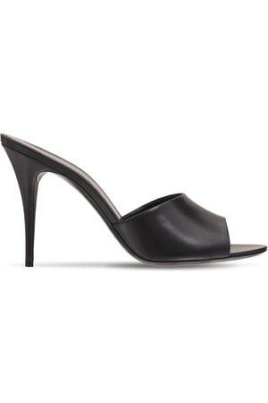 Saint Laurent Mujer Zuecos - | Mujer Sandalias Mules La 16 De Piel 95mm 35