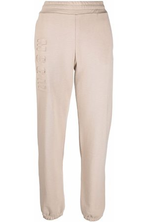 Msgm Pantalones de chándal con logo en relieve