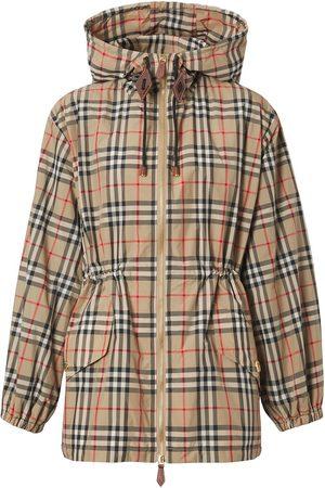 Burberry Chaqueta con capucha y motivo Vintage Check