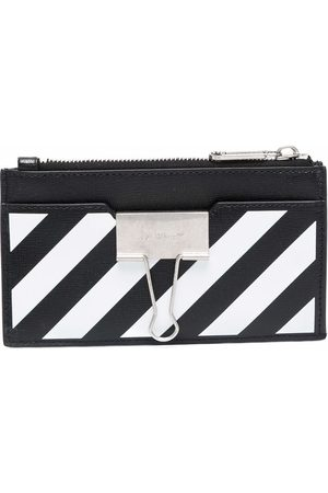 Off-White BINDER CARD CASE WITH POCKETS BLACK WHIT