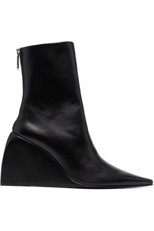 OFF-WHITE NAPPA DOLL WEDGE BOOTIE BLACK NO COLOR
