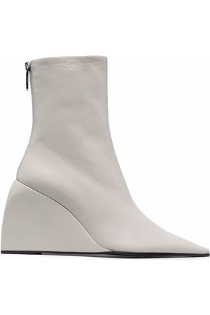 OFF-WHITE NAPPA DOLL WEDGE BOOTIE GREY NO COLOR