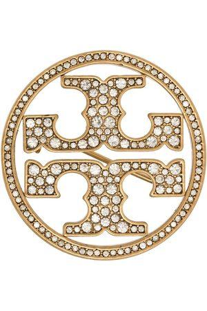 Tory Burch Broche con logo y cristales