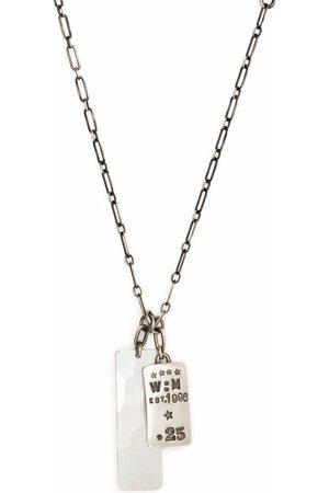 WERKSTATT:MÜNCHEN Collar de cadena con placa